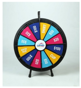 12-Slot Blacktop Prize Wheel Game